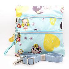 HARAJUKU LOVERS Crossbody Messenger Blue Multi Color Bag