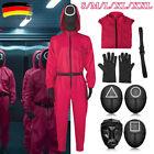 Squid Game Kostüm Cosplay Overall Maske Gürtel  Karneval Anzug Maske DE <br/> nicht am 30.10. ankommen!!!;NUR für den Schultag