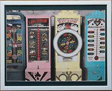 Allan Teger, Old Arcade Machines, Kiss o Meter - 20''x16'' frame