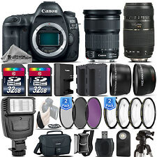 Canon EOS 5D Mark IV DSLR Full Frame Camera + 24-105mm STM + 70-300mm - 64GB Kit