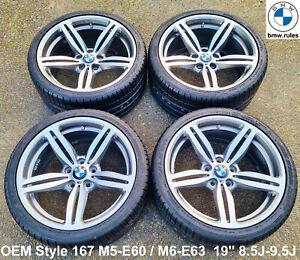 19'' OEM BMW M Style 167 Alloy Wheels Rim M5 M6 E60 E63 Falken FK510 Tyre Set