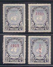 Thailand 1951-54 Sc # 296-99 Vlh Og (52049)