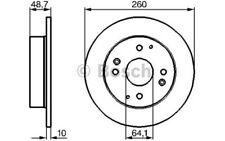 BOSCH Juego de 2 discos freno 260mm HONDA CIVIC ACCORD ROVER 600 0 986 478 172