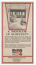 1920s Advertising Blotter Hyvis Motor Oil Mayotte Buick Garage Detroit MI