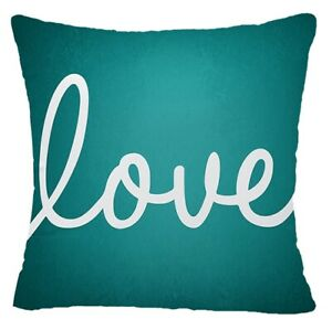 """PILLOW COVER Teal Blue Decorative Home Decor Abstract White Cushion Case 20x20"""""""