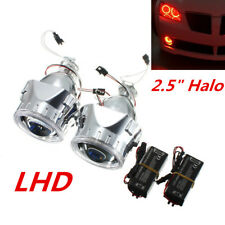 "2.5"" HID Bi-Xenon Projector Lens Headlight Red Angel Eye Halo Ring for H1 H4 H7"