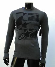 Alpinestars Motocross effed up charcoal L/S thermal atletic mens t shirt small