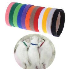 Soft 12Pcs Whelping Puppy Kitten Newborn Id Collars Bands Soft Small Pet Tags
