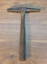"Old Used Tools,Vintage Blacksmith Made Branding Hammer,""OF"" & *,1lb.14.5oz."
