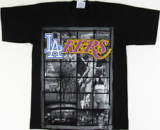 Los Angeles T-shirt LA Graffiti Art Dodgers Lakers Magic Kobe Tee MEDIUM Black