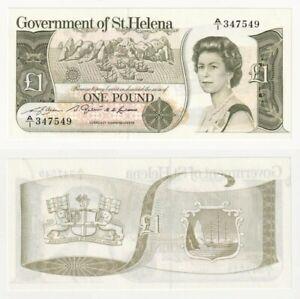 ST. HELENA £1 Banknote (1982, A/1 Prefix) P.9a - UNC.