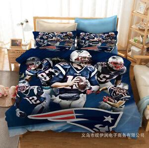 New England Patriots Bedding Set Duvet Cover Pillowcase 3PCS Comforter Cover Set