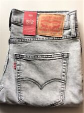 Levi's Men's New 512 0176 32x34 Hulk Gray Slim Tapered Fit Stretch Denim Jeans