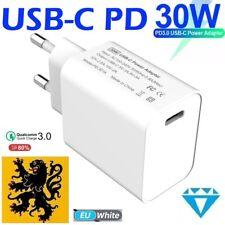 Chargeur Secteur Rapide 1 port USB-C Type C PD 3.0 30W iPhone iPad iMac PC