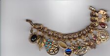 Handmade One of a Kind Vintage Charm Bracelet with Unique Charms