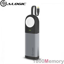 Alogic 6700mAh 3-in-1 Power Bank for Apple Watch 4 3 2 iPhone w/ Lightning Cable