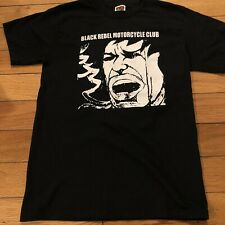 Black Rebel Motorcycle Club 2001 Tour T-Shirt BRMC Face Men's Small Indie Rock