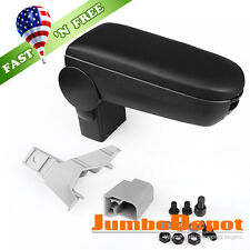 US Black Leatherette Front Center Console Armrest Box for 1999-04 VW Golf Jetta