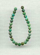 """FACETED HUBEI CLOUD MOUNTAIN TURQUOISE 4.5MM ROUND BEADS - 4.5"""" Strand - 0363"""