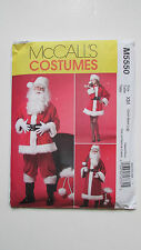 McCall's Costumes M5550 Santa Claus, Ms. & Long/Short Sml-Med-Lg New Uncut!