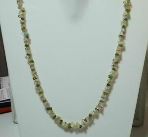 """32""""inch Necklace Natural Multi Stone Chips Uncut Nugget Gemstone 4-6mm Beads"""