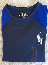 RALPH LAUREN Polo Boys Shirt Navy Size 5 Long Sleeve Age 4 RRP £45