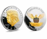 US President Donald Trump 2020 KEEP AMERICA GREAT Silver&Gold Eagle Coin TKL