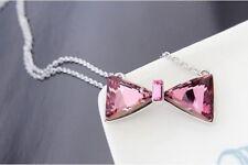 Bow Tie Necklace with Swarovski Elements Crystal