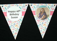 PAPER BUNTING - HAND CRAFTED - PERSONALISED - WITH PHOTO - FOR ANY OCCASION