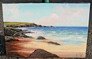 Kevin Platt - Original Oil Painting - Coastal Scene. Cornwall.
