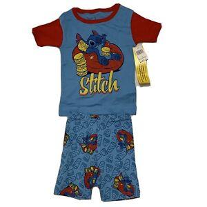 Disney Lilo & Stitch Boys 2 pc. Blue Pajama Shorts Set, Size 4 Disney Parks