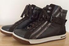 Michael Kors Sneaker alte US 9 M UK 7 EU 40 due tonalità metallica bronzo zip AQ13E