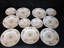 Minton Marlow Porcelain China 7 Dinner 4 Salad Plates Globe backstamp England