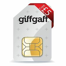 GiffGaff SIM card Nano Micro Standard 3 in 1 + Pay As You Go + £5 FREE credit 4G