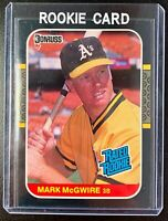 1987 Donruss #46 Mark McGwire Rated Rookie RC Prospect Card Oakland Athletics