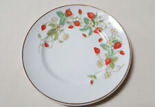 "Vintage 1978 Avon Porcelain Strawberry Plate 22K Gold Trim 7-3/4"" Diam Used Vgln"