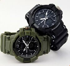 Skmei 01 Men S-SHOCK Military Quartz Watch Waterproof Analog Digital Wristwatch