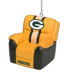 Green Bay Packers Reclining Chair Ornament – New with Tags