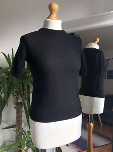 COS 100% Wool Short Sleeve Jumper Size S Vgc