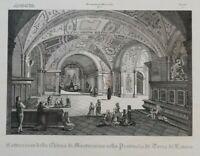 Lotto di 5 Incisioni su rame dal Zaccagni - Orlandini 1842-1845 (P206-P210) Come
