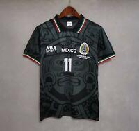 1998 Mexico Black Away Retro Soccer Jersey