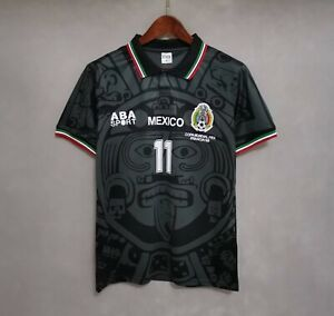1998 Mexico Away BLANCO 11 Retro Shirt