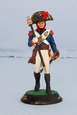 Hand Painted Metal Figure French Napoleonic Drum Major Soldier 90mm Waterloo