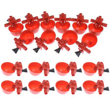 20PCS Poultry Auto Quail Water Drinker Drinking Cup Bird Coop Chick Feed Cup h6