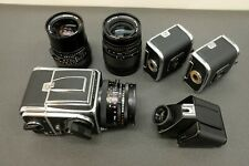 Hasselblad 500C/M Ultimate Camera Kit 80mm 50mm 150mm CF T* Meter Prism 3 backs!