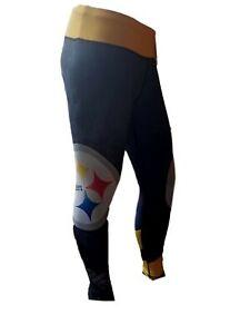 New NFL Pittsburgh Steelers Women's Big Logo Compression Legging Tights Sz Small