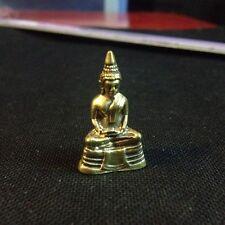 Thai Amulet Sacred Lp Sothorn Buddha Statue Brass Figurine DBZ