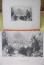 Vintage Print,VILLAGE OF LITTLE FALLS,Bartlett,1883,Pic.America