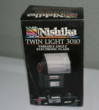 Nishika Twin Light 3010 Variable-Angle Electronic Flash As Is