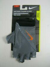 Nike Men's Havoc Training Half Finger Gloves Small Gray